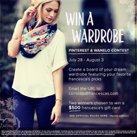 FRANCESCA'S® ONLINE CONTESTS