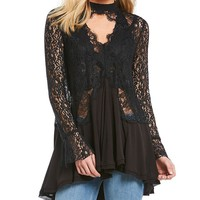Free People Tell Tale Lace Tunic | Dillards