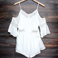madison square x wilde heart gypsy warrior romper - ivory