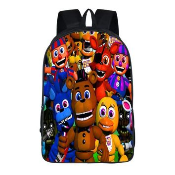Anime  At Backpack Teen Bonnie Fazbear Foxy Freddy Chica Backpack Boys Girls School Bags Backpack 17 style