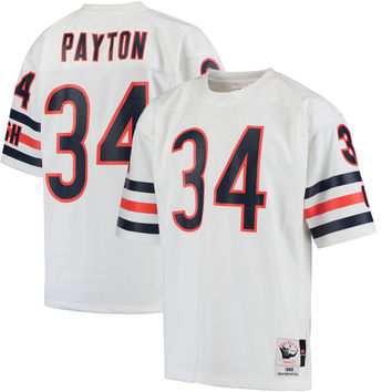 Men's Chicago Bears Walter Payton Mitchell & Ness White 1985 Authentic Throwback Jersey