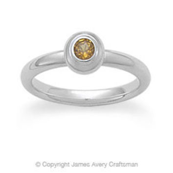 Avery Remembrance Ring with Citrine (November) from James Avery