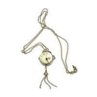 Come2Buy Fashion Lovely Round Quartz Watch Pendant Necklace Bronze Crystal Ball Necklace Watch