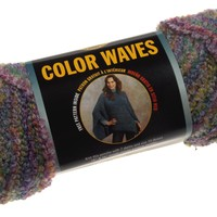 Lion Brand Yarn Color Waves Pebble Beach 398 Lot 3 Skeins 125yds 3oz