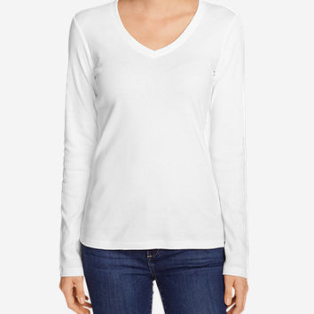 Women's Favorite Long-sleeve V-neck T-shirt | Eddie Bauer