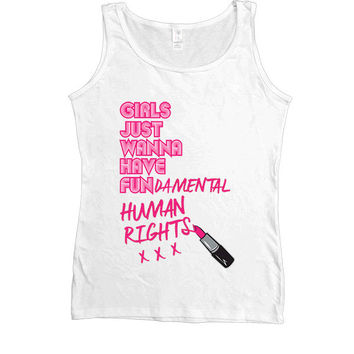 Girls Just Wanna Have Fun-damental Rights #2 Lipstick -- Women's Tanktop