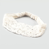 Full Tilt Crochet Headband Ivory One Size For Women 19906616001