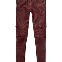 Slim Fit Biker Inspired Leather Pants - Scotch & Soda