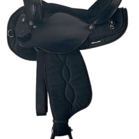 "14""-16"" Round Skirt Cordura Saddle by Ozark Leather Co. SQH Bars"