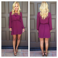 Addicted To Love Dress - BURGUNDY