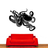 Ocean Octopus Vinyl Wall Decal Sticker Graphic