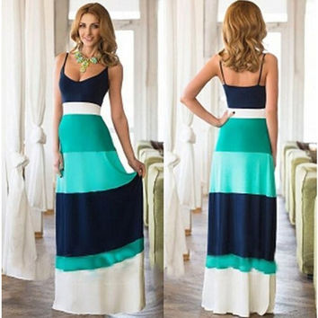 Fashion Spaghetti Strap Beach Long Dress = 1955659204