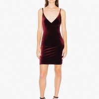 Velvet Bixel Dress | American Apparel