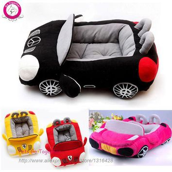 PEAPHY3 Cool Unique Dog Car Beds Detachable PP Cotton Padded Small Dog House Waterproof Bottom Puppy chihuahua Sofa Bed