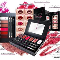 Aesthetica Cosmetics Lip Contour Kit - Contouring and Highlighting Matte Lipstick Palette Set - Includes Six Lip Crèmes, Four Lip Liners, Lip Brush and Step-by-Step Instructions - Vegan & Cruelty Free