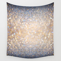 Glimmer of Light (Ombré Glitter Abstract) Wall Tapestry by Soaring Anchor Designs