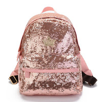 Women Sequin Backpacks For Teenage Girls Rucksack