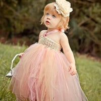 Ivory Flower Girl Tutu Dress-Baby Tutu Dress-Toddler Pink Tutu Dress-Tulle Wedding Dress Ivory Tutu Dress Flower Girl Dress-Photo Prop