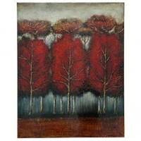 """Crestview Entering the Forest Stretched Canvas - 50"""" x 40"""" - CVBWE934 - Decor"""