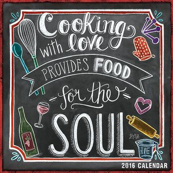 2016 Chalk Art Recipe Calendar