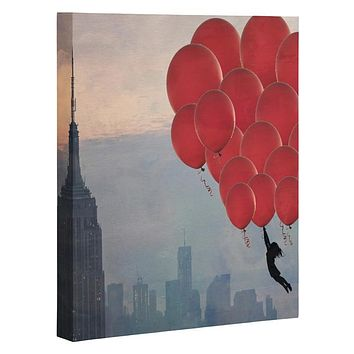 Maybe Sparrow Photography Floating Over The City Art Canvas