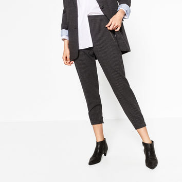 PINSTRIPE TROUSERS DETAILS