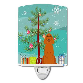 Merry Christmas Tree Irish Setter Ceramic Night Light BB4189CNL