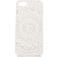 With Love From CA Medallion Clear iPhone 5/5S Case - Womens Scarves - White - One