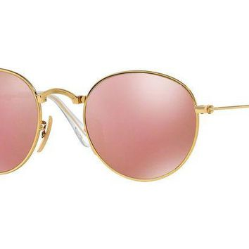 Gotopfashion Ray-Ban Sunglasses RB3532 001/Z2 Metal Folding Gold Frame/Copper Flash MSRP $228
