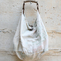Tote Bag Made From Vintage Japanese Sake bags By T.K Garment Supply