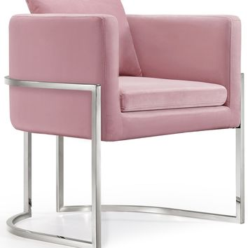Pippa Pink Velvet Accent Chair