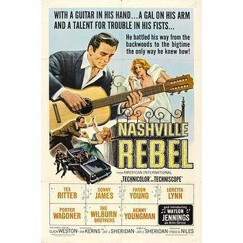 Nashville Rebel Movie poster Metal Sign Wall Art 8in x 12in