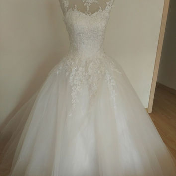 9036 Ball Gown Real Images Vestido De Novia Tulle Wedding Dress 2016 Bridal Dresses Robe de Marriage Wedding Gowns