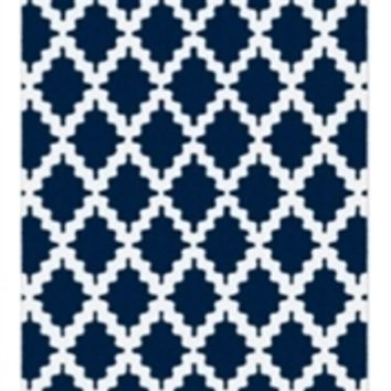 Trella Stitch Dorm Rug - Navy and White Dorm Products Best Stuff For Dorms Shopping For College Students