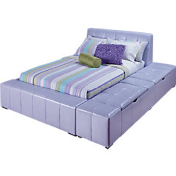 Zoey Lavender 4 Pc Full Storage Bed