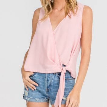 Sleeveless Tied Top, Pink