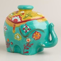 Royal Indian Elephant Ceramic Cookie Jar
