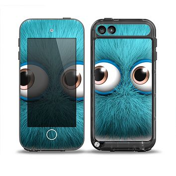 The Teal Fuzzy Wuzzy Skin for the iPod Touch 5th Generation frē LifeProof Case