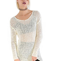 Mia Mesh Sweater