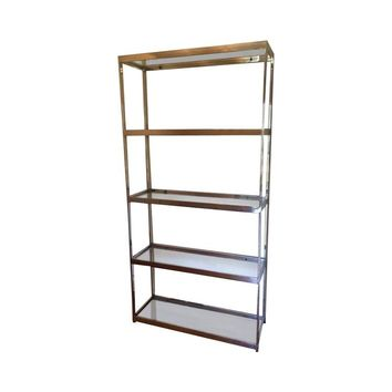 Pre-owned Vintage Baughman Style Chrome Etagere