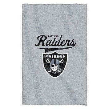 Oakland Raiders NFL Logo Sweatshirt Material Poly/Cotton Throw