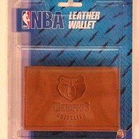 Memphis Grizzlies NBA Embossed Leather Trifold Wallet FREE US SHIPPING