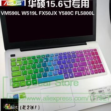 Silicone laptop keyboard protector cover skin For Asus X501U X502U X502C X550C X550DP X551 X552E X552V  X56C X503M X555 X555LD