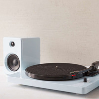 EP-33 Bluetooth Turntable With Speakers - Glossy Blue - Urban Outfitters