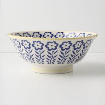 Atom Art Serving Bowls by Anthropologie in Blue Size: One Size Serveware