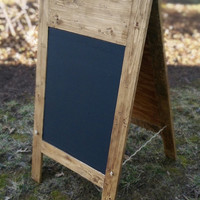 Rustic wedding decor Custom Chalkboard A-Frame Sign Outdoor Wedding Country Wedding Outdoor Business Sign personalized chalkboard sign