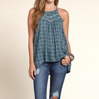 Boho Patterned Tunic Cami