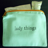 INdiscreet Zip Pouch for Tampons, Menstrual Pads, Feminine Products - lady things
