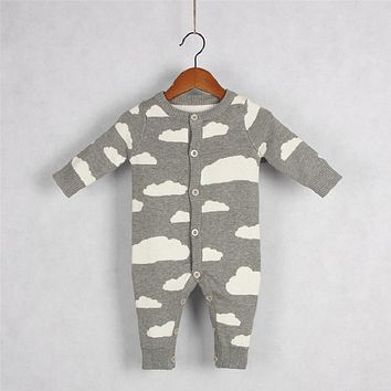 Baby Knitted Rompers Kids girls Jumpsuits Cotton Long Sleeve Baby boys Romper for Autumn Casual Style Overalls