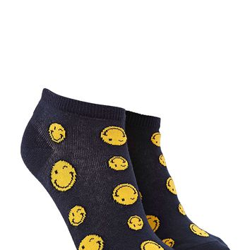 Winking Face Print Ankle Socks